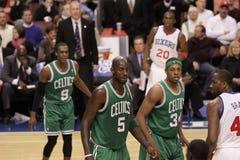 2011 NBA All Star Kevin Garnett & Paul Pierce Royalty Free Stock Photos