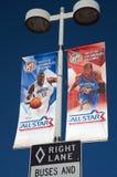 2011 NBA todo el juego de la estrella en el centro de las grapas Imágenes de archivo libres de regalías