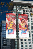 2011 NBA todo el juego de la estrella en el centro de las grapas Foto de archivo