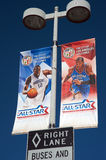 2011 NBA tout le jeu d'étoile au centre d'agrafes Images libres de droits