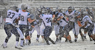 2011 NCAA Football - Line Action In The Snow Stock Image