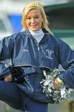 2011 NCAA voetbal - cheerleader Stock Fotografie