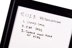 2011 neues Jahr-Auflösungen Lizenzfreie Stockbilder