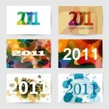 2011 neues Jahr-Gruß-Karten Lizenzfreies Stockfoto