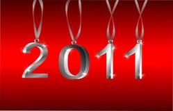 2011 neues Jahr-Verzierungen Stockfotos