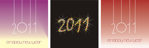 2011 New Year. Illustration multicolored New Year fireworks Stock Images