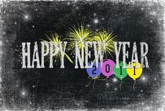 2011 New Year. Happy new year on textured background with balloons Royalty Free Illustration