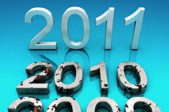 2011.The New Year. Royalty Free Stock Photos