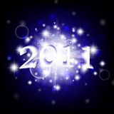 2011 new year. Bright theme with stars Royalty Free Stock Photo