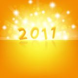 2011 new year. Bright theme with stars Vector Illustration