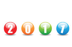 2011 new year. Different colour of new year buttons Stock Photography