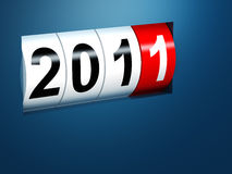 2011 new year background. 3d image Vector Illustration