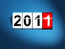 2011 new year background. 3d image Stock Illustration