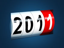 2011 new year background. 3d image Royalty Free Stock Image