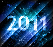 2011 new year background. In blue shades Stock Photos