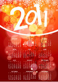 2011 new year background. 2011 card beautiful illustration of chritsmas and new year Royalty Free Illustration
