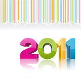 2011 new year card. Illustration of 2011 new year card Stock Image