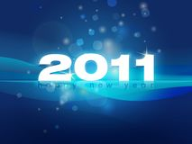 2011 New Year card illustration Royalty Free Stock Image