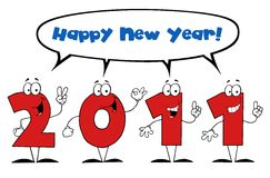 2011 New year characters Royalty Free Stock Photography