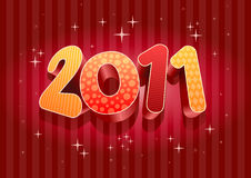 2011 new year composition. 3d design. All elements are layered separately in file stock illustration