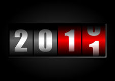2011 New Year counter. On black Royalty Free Stock Photo