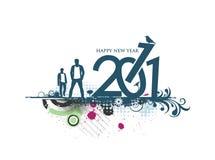 2011 new year design. New year 2011 in grunge flora background design. Vector illustration vector illustration