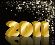 2011 new year greeting card.  Royalty Free Stock Photo