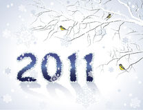 2011 New Year greeting card. Or background Royalty Free Stock Image