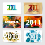 2011 New Year Greeting Cards. Set of New Year Greeting Cards for 2011 year vector illustration
