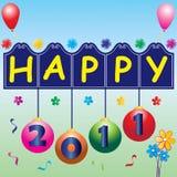 2011 new year greetings Stock Image