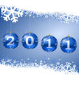 2011 new year illustration. With christmas balls Royalty Free Stock Images