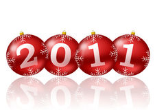 2011 new year illustration. With christmas balls royalty free illustration