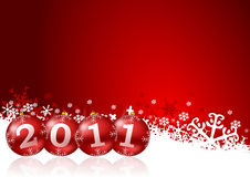 2011 new year illustration. With christmas balls Royalty Free Stock Photo