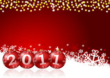 2011 new year illustration. With christmas balls Royalty Free Stock Photography