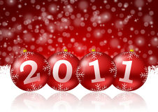 2011 new year illustration. With christmas balls Stock Image