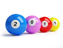 2011 new year's. Bingo balls Royalty Free Stock Image