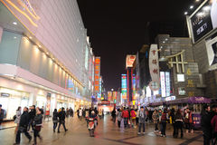 2011 new year shopping in chengdu. 2011 new year shopping, chunxi street,chinese famous business walking street  in chengdu Royalty Free Stock Photography