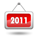 2011 new year sign. Isolated on white background stock illustration