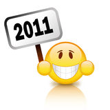 2011 new year sign. 2011 happy new year sign on white background stock illustration