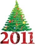 2011 new year tree Royalty Free Stock Photo