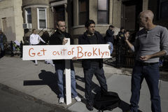 2011 New York City Marathon in Brooklyn Royalty Free Stock Photo