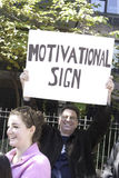 2011 New York City Marathon - Funny Sign Stock Photo