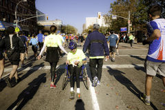2011 New York City Marathon - Manhattan Stock Photography