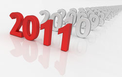 2011 - next year Stock Photos
