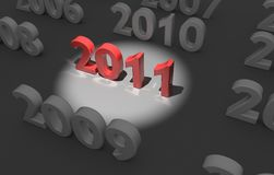 2011 - next year Stock Photography