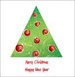 2011 nieuwe het jaarprentbriefkaar van Kerstmis Royalty-vrije Stock Afbeelding
