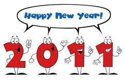 2011 nieuwe jaarkarakters Royalty-vrije Stock Fotografie