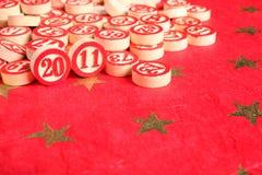 2011 - numeri di bingo Fotografia Stock