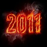 2011 numero del fuoco illustrazione vettoriale