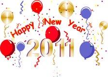 2011 nuovo anno felice Fotografia Stock